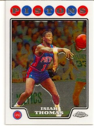 Isiah Thomas 2008-09 Topps Chrome Basketball Card