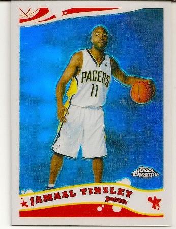 Jamaal Tinsley 2005-06 Topps Chrome Refractor Card
