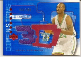 Jamal Mashburn 2003-04 Triple Dimensions Game-Used Jersey Insert Card /499