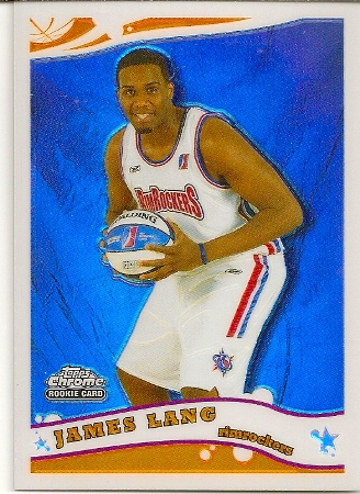 James Lang 2005-06 Topps Chrome Refractor Rookie Card