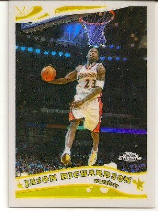 Jason Richardson 2005-06 Topps Chrome Refractor Card