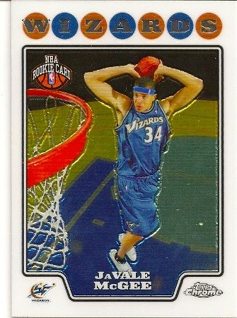 JaValle McGee 2008-09 Topps Chrome Rookie Card