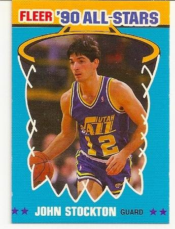John Stockton 1990-91 Fleer All-Star Basketball Card