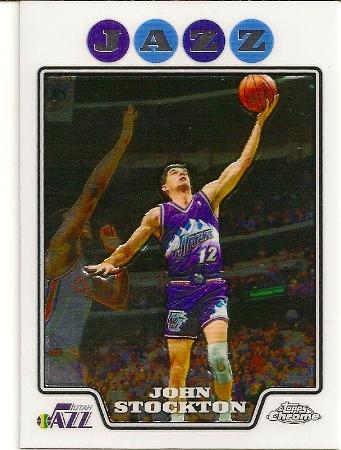 John Stockton 2008-09 Topps Chrome Basketball Card