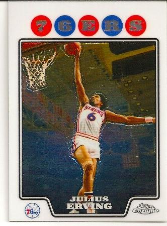 Julius Erving 2008-09 Topps Chrome Basketball Card