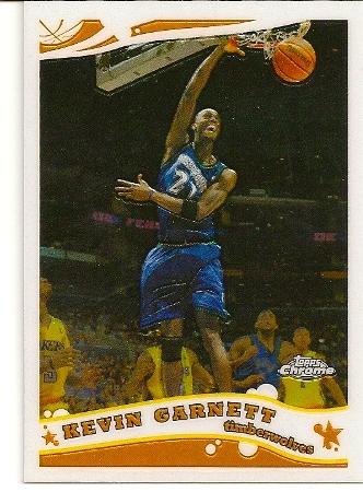 Kevin Garnett 2005-06 Topps Chrome Basketball Card