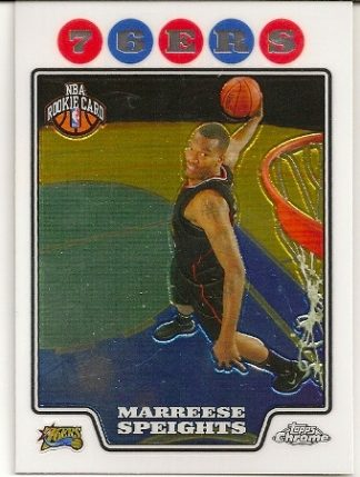 Marreese Speights 2008-09 Topps Chrome Rookie Card