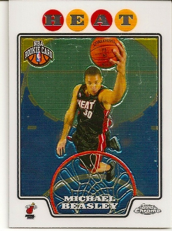 Michael Beasley 2008-09 Topps Chrome Rookie Card