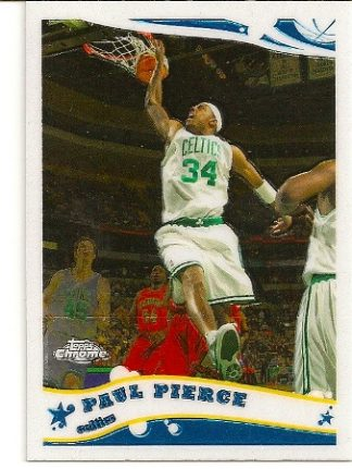 Paul Pierce 2005-06 Topps Chrome Basketball Card