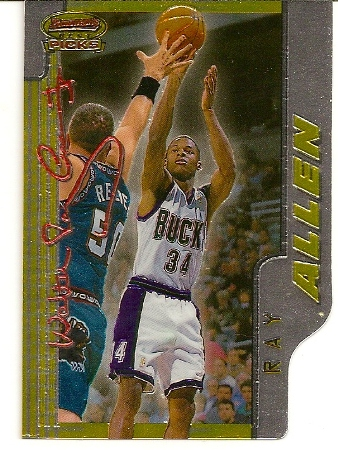 Ray Allen 1996-97 Bowman's Best Picks Rookie Card BP5