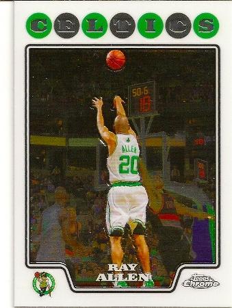Ray Allen 2008-09 Topps Chrome Basketball Card