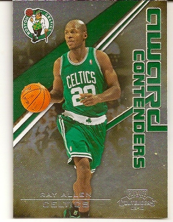Ray Allen 2009-10 Playoff Contenders Insert Basketball Card