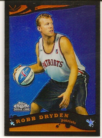 Robb Dryden 2005-06 Topps Chrome Black Refractor Rookie Card /399