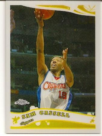 Sam Cassell 2005-06 Topps Chrome Refractor Card