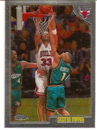 Scottie Pippen 1998-99 Topps Chrome Basketball Card
