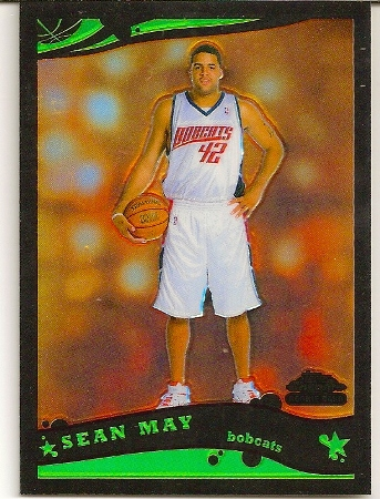 Sean May 2005-06 Topps Chrome Black Refractor Rookie Card /399