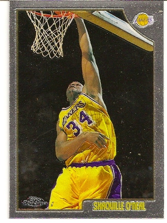 Shaquille O'Neal 1998-99 Topps Chrome Basketball Card