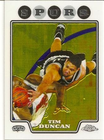 Tim Duncan 2008-09 Topps Chrome Basketball Card