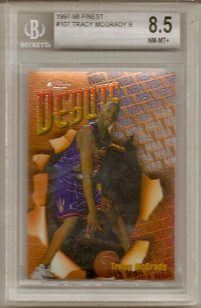 Tracy MGrady 1997-98 Topps Finest Rookie Card BGS 8.5