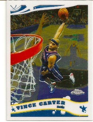 Vince Carter 2005-06 Topps Chrome Basketball Card