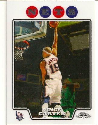 Vince Carter 2008-09 Topps Chrome Basketball Card