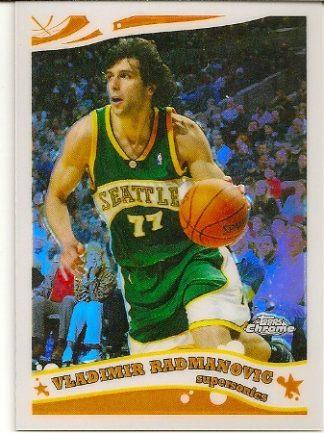 Vladimir Radmanovic 2005-06 Topps Chrome Refractor Card