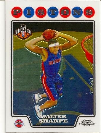 Walter Sharpe 2008-09 Topps Chrome Rookie Card