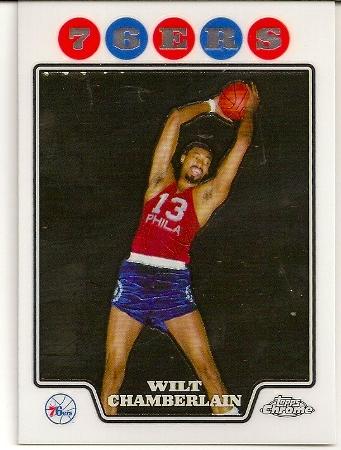 Wilt Chamberlain 2008-09 Topps Chrome Basketball Card