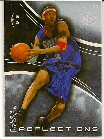 Allen Iverson 2003-04 Triple Dimensions Reflections Basketball Card