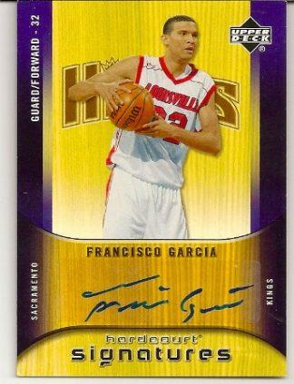 Francisco Garcia 2005-06 Upper Deck Hardcourt Signatures Rookie Card