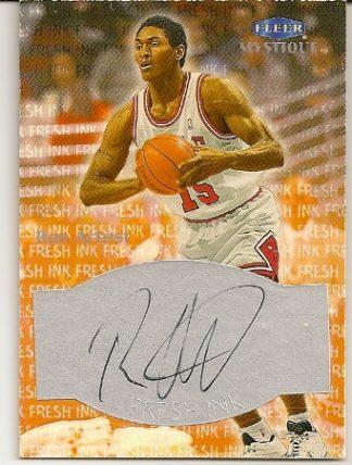 Ron Artest 1999-00 Fleer Mystique Fresh Ink On Card Autograph Card
