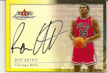 Ron Artest 2000-01 Fleer Skybox Autographics Basketball Card