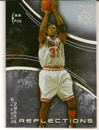 Scottie Pippen 2003-04 Triple Dimensions Reflections Basketball Card