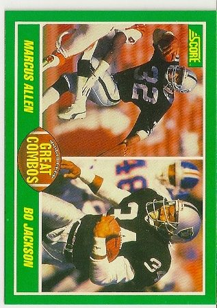 1989 Score Great Combos Bo Jackson-Marcus Allen