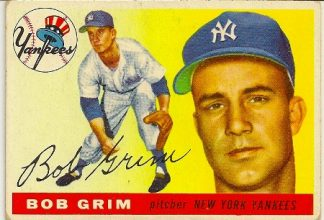 Bob Grim 1955 Topps Baseball Rookie Card GOOD 2