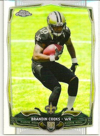 Brandin Cooks 2014 Topps Chrome Refractor Rookie Card