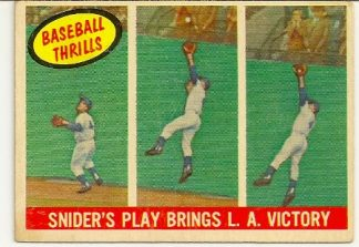 Duke Snider 1959 Topps Baseball Thrills Card