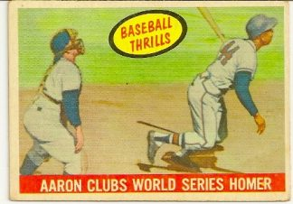 Hank Aaron 1959 Topps Baseball Thrills Card