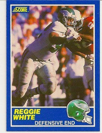 Reggie White 1989 Score Football Card