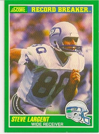 Steve Largent 1989 Score Record Breaker Football Card