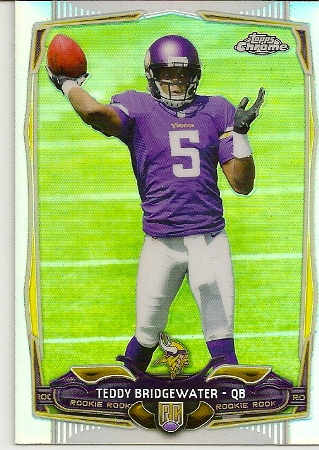 Teddy Bridgewater 2014 Topps Chrome Refractor Rookie Card