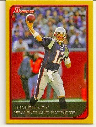 Tom Brady 2006 Bowman Gold Football Card