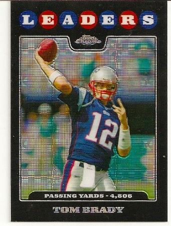 Tom Brady 2008 Topps Chrome Xfractor Card