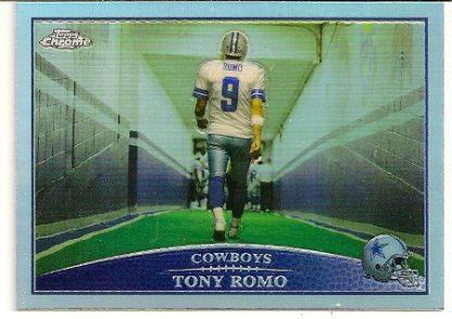Tony Romo 2009 Topps Chrome Refractor Card