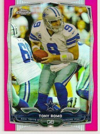 Tony Romo 2014 Topps Chrome Pink Refractor Card