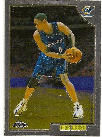 Chris Webber 1998-99 Topps Chrome Basketball Card
