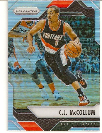 C.J. McCollum 2016-17 Panini Prizm Refractor Basketball Card