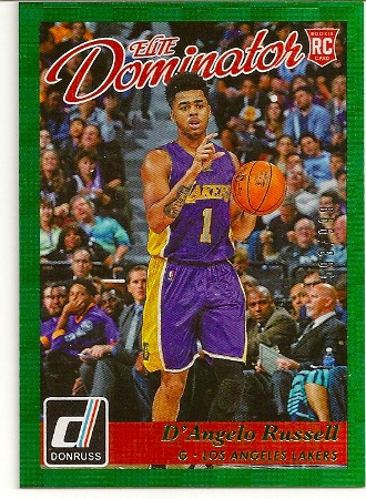 D'Angelo Russell 2015-16 Donruss Elite Dominator Rookie Card /999