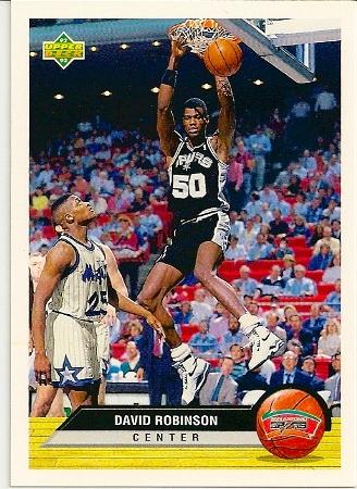 David Robinson 1992-93 Upper Deck McDonald's Basketball Card