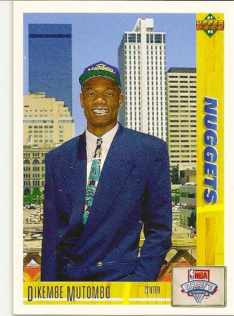 Dikembe Mutumbo1991-92 Upper Deck Rookie Card